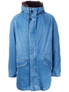 denim effect parka Yves Salomon Homme