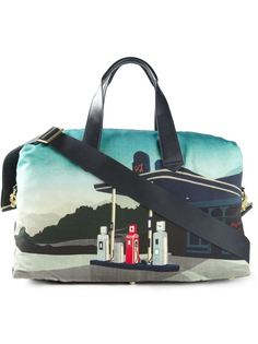 дорожная сумка с принтом 'graphic garage'    Paul Smith