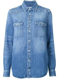джинсовая рубашка с заклепками Givenchy