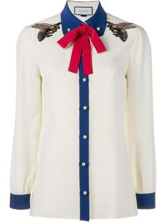 рубашка с вышивкой Gucci