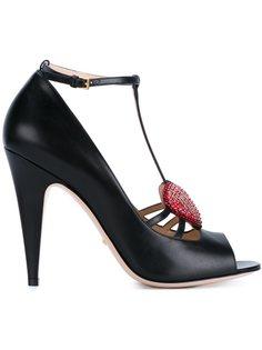 туфли с украшением из кристаллов Gucci
