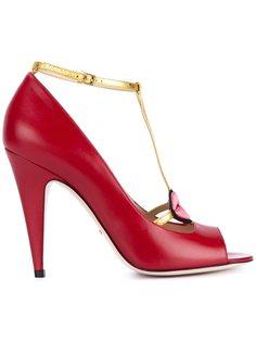 туфли с аппликацией в виде губ Gucci