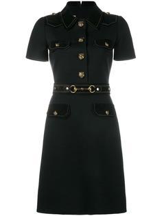 платье-рубашка в стиле милитари  Gucci