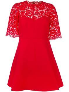 кружевное креповое платье  Valentino