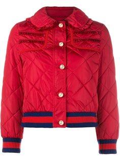 дутая куртка с отделкой оборками Gucci
