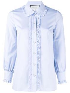 рубашка с оборками Gucci