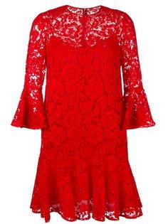 кружевное гипюровое мини-платье  Valentino