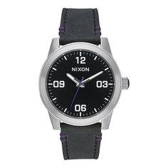Кварцевые часы Nixon G.i. Leather Black