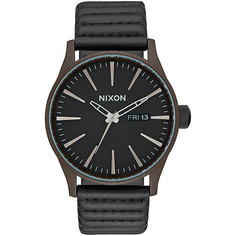 Кварцевые часы Nixon Sentry Leather Bronze/Black