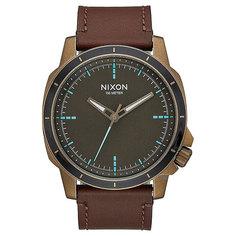 Кварцевые часы Nixon Ranger Brass/Brown