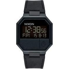 Электронные часы Nixon Re-run Leather All Black