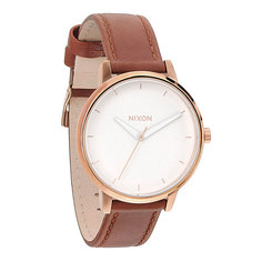 Часы женские Nixon Kensington Leather Rose Gold/White