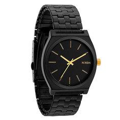 Часы Nixon Time Teller Matte Black/Gold