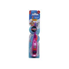 """Мигающая зубная щётка на присоске """"Забавные зверята"""", 3-6 лет LONGA VITA, розовый пингвин"""