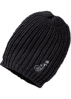 Вязаная шапка Дженни в стиле оверсай (кремовый) Bonprix