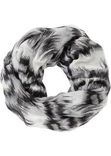 Разноцветный шарф снуд (ярко-розовый/белый) Bonprix