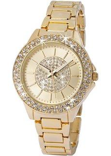 Часы со сверкающим циферблатом (серебристый) Bonprix
