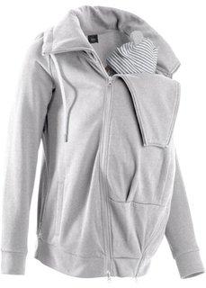 Трикотажная куртка со вставкой для малыша (голубой) Bonprix