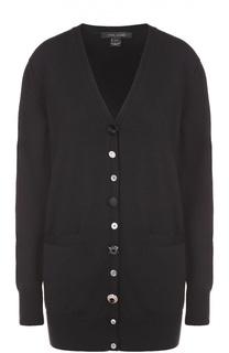Удлиненный кардиган с карманами и V-образным вырезом Marc Jacobs