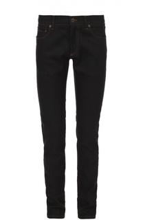 Зауженные джинсы с контрастной отстрочкой и аппликацией Dolce & Gabbana