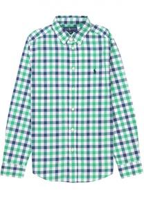 Рубашка из хлопка с рисунком в клетку Polo Ralph Lauren