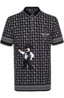 Хлопковое поло с нашивками Dolce & Gabbana