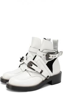 Кожаные ботинки с ремешками Balenciaga