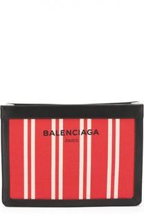 Клатч Navy из текстиля с кожаной отделкой Balenciaga