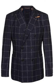 Шерстяной двубортный пиджак Baldessarini