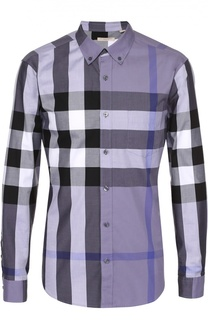 Хлопковая рубашка с воротником button down Burberry Brit