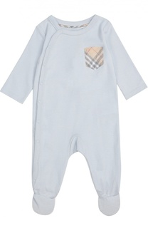 Пижама из хлопка на кнопках Burberry