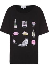 Хлопковая футболка прямого кроя с ярким принтом Wildfox