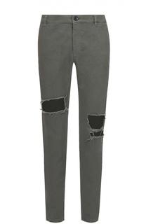 Хлопковые брюки чинос с потертостями Religion