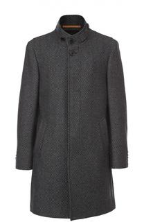 Шерстяное пальто с воротником-стойкой Baldessarini