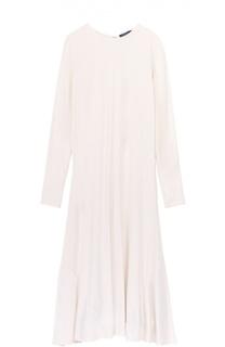 Приталенное платье-миди с длинным рукавом Polo Ralph Lauren
