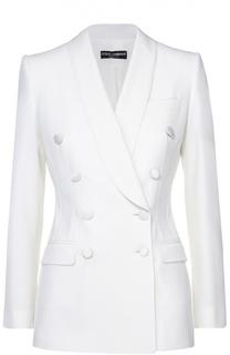 Двубортный приталенный жакет с карманами Dolce & Gabbana