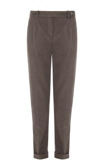 Вельветовые брюки прямого кроя с отворотами Loro Piana