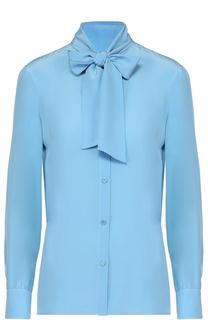 Шелковая блуза прямого кроя с воротником аскот M Missoni