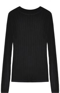 Облегающий полупрозрачный пуловер с круглым вырезом DKNY