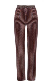 Широкие брюки прямого кроя с ярким принтом Diane Von Furstenberg