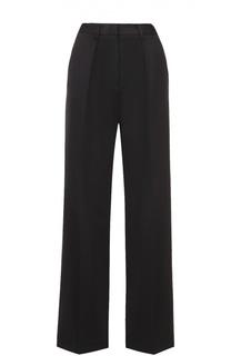 Широкие брюки прямого кроя с защипами MSGM