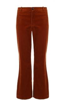 Укороченные расклешенные вельветовые брюки Balenciaga