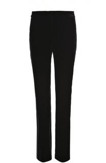 Бархатные брюки с шелковыми лампасами Tom Ford