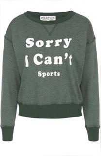 Укороченный пуловер с контрастной надписью Wildfox