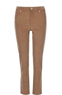 Вельветовые брюки-скинни с декоративными молниями Loro Piana