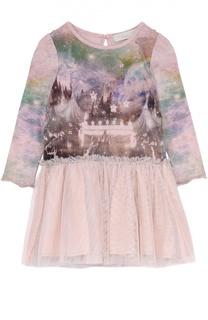 Платье с принтом и пышной юбкой Stella McCartney