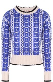 Укороченный пуловер прямого кроя с контрастным принтом Marni