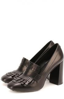 Кожаные туфли Gomma с бахромой Tod's