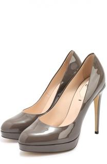 Лаковые туфли Plateau на шпильке Fendi