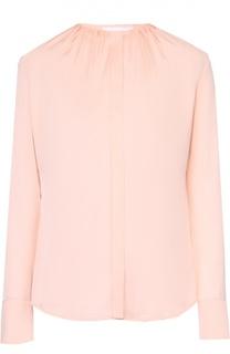 Приталенная блуза с круглым вырезом и защипами HUGO